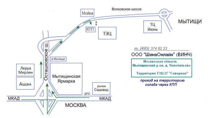 Схема проезда к КПП ТЭЦ