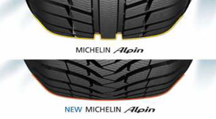 ������ ���� Michelin Alpin A4 - ����� ��������� Full Active Tread